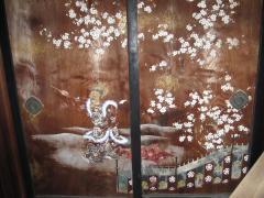庭園傍の襖絵