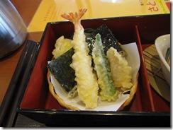 天ぷら(おくら、たけのこ、海老、いか、のり)