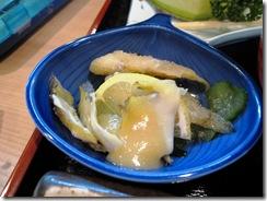 あわびの酢味噌、魚の酢のもの