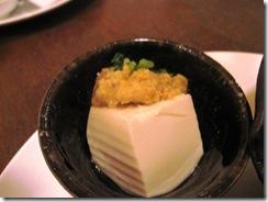 雑穀味噌のせ豆腐