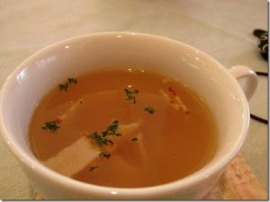 貝柱とベーコンのあっさりスープ