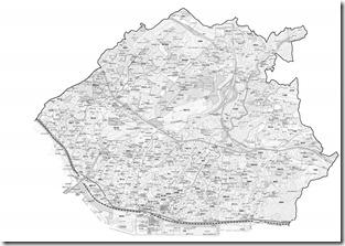 太枠地図グレースケール